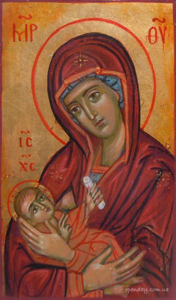 Virgin with a child