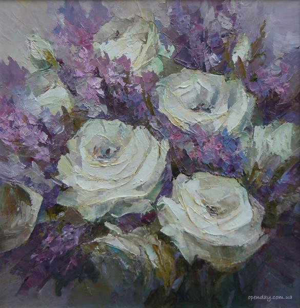 Roses in lilac