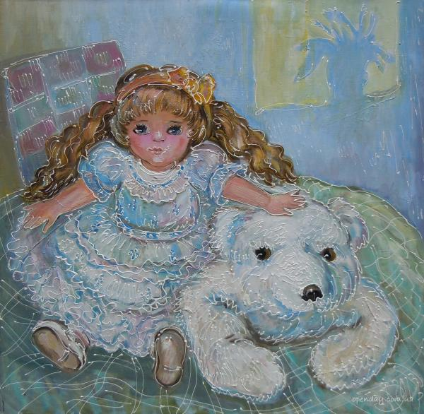 Doll with Teddy Bear