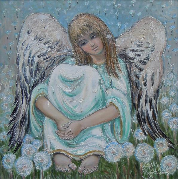 Angel with dandelions